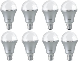 7W White LED Bulb (Pack Of 8)