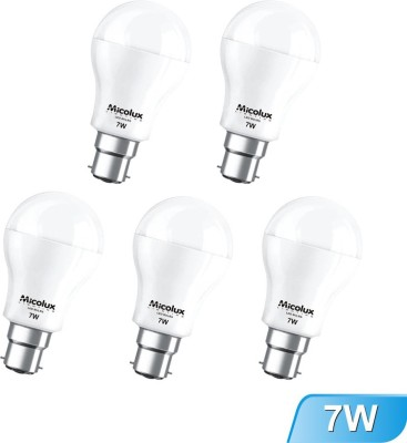 7W B22 White Led Bulb (Set Of 5)