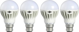 B22 9W LED Bulb (White, Pack of 4)