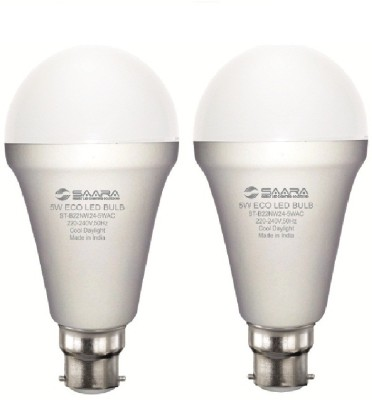 5W White Eco Led Bulbs (Pack Of 2)