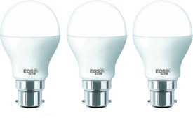 7W B22 LED Bulb (White, Set of 3)
