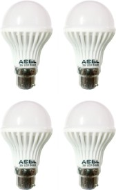 ASBL 3 W LED Bulb B22 Cool White (pack of 4)