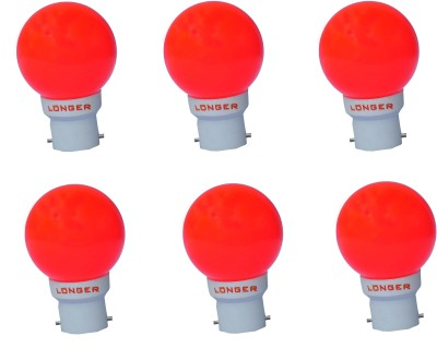 0.5 W Deco Eco LED Bulb B22 Red (pack of 6)