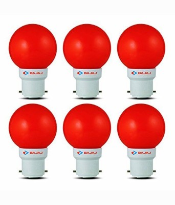 0.5W LED Bulbs (Red, Pack of 6)