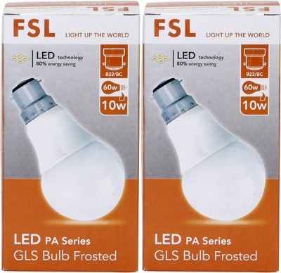 10W B22 LED Bulb (Yellow, Set Of 2)