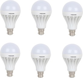 9W LED Bulb (White, pack of 6)
