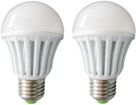 7W-E27-Plastic-Body-White-LED-Bulb-(Pack-of-2)