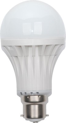 Gold 9W B22 LED Bulb (White, Set of 9)