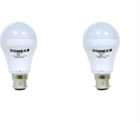 7W Aluminium Body White LED Bulb (Pack of 2)