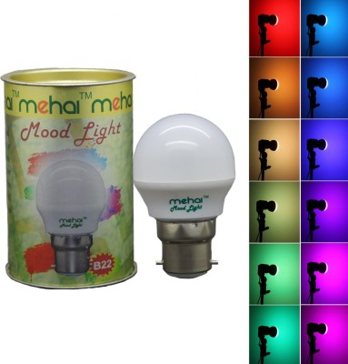0.5 W LED Mood Night Lamp Bulb B22 Multi color