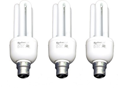 20-W-3U-Lamp-B22-Cap-CFL-Bulb-(Cool-Day-Light,-Pack-of-3)