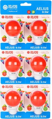 0.5-W-LED-Bulb-B22-Red-(pack-of-6)