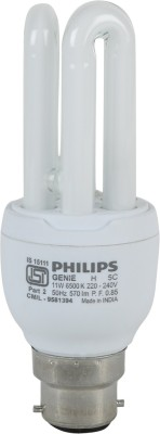 Genie-11-Watt-CFL-Bulb-(Cool-Day-Light,Pack-of-2))-