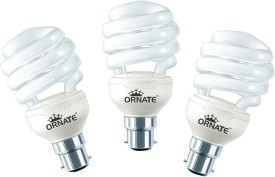23 W Spiral CFL Bulb (White, Pack of 3)