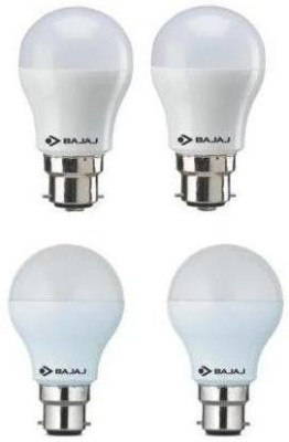 3W And 9W LED Bulb (White, Pack of 4)