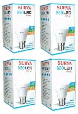 5 W LED Bulb (White, Pack of 4)