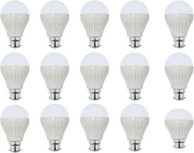Goldpack 9W Plastic White LED Bulb (Pack Of 15)