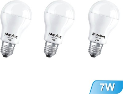 7W E27 White Led Bulb (Set of 3)