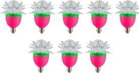 Lotus-3-W-LED-Bulb-(Multicolor,-Pack-of-8)