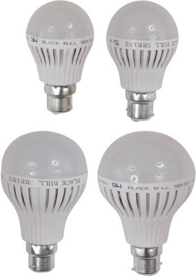 3W,5W,7W,9W B22 LED Bulb (White, Set Of 4)
