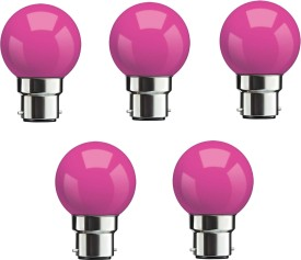 0.5W-Pink-LED-Bulbs-(Pack-Of-5)-