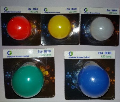 Greaves 0.5 W LED Bulb B22 multicolour (pack of 5)