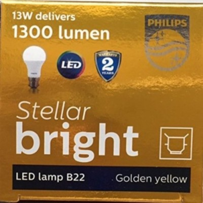 13W B22 1400L LED Bulb (Yellow)