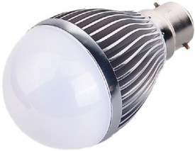 5W B22 Aluminium Body White LED Bulb (Pack of 2)