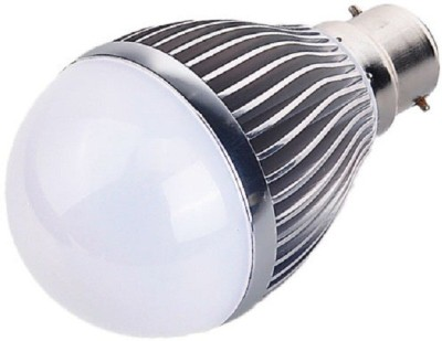 3W B22 Aluminium Body White LED Bulb (Pack of 2)