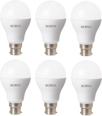 12W White 1260 Lumens LED Bulbs (Pack Of 6)
