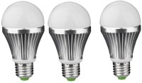 IPP 7 W LED (Set Of 3) E27 7 Watt Long Life - Full Aluminium Body - Superb Design Bulb (White, Pack Of 3)