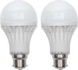Gold-9W-B22-LED-Bulb-(White,-Set-of-2)