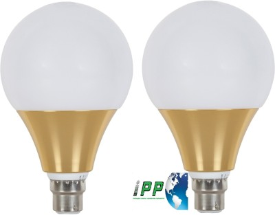 12W B22 Aluminium Body White LED Bulb (Pack of 2)