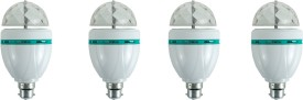 3 W LED Bulb (Multicolor, Pack of 4)