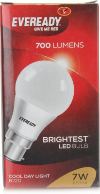 7 W LED B22 Cool Day Light Bulb With Free Four Alkaline Strips