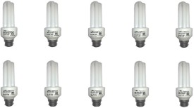 15 W CFL Bulb (White, Pack of 10)