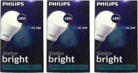 10.5 W LED Steller Bright cool daylight Bulb E27 white (pack of 3)