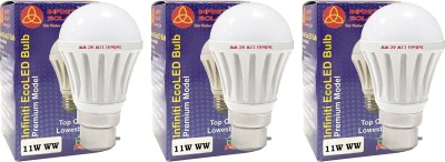 Eco B22 11W LED Bulb (Warm White, Pack of 3)