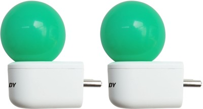 0.5W Plug and Play Green Deco LED Bulb (Pack of 2)