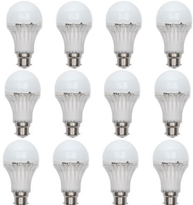 9W B22 LED Bulb (White, Set of 12)