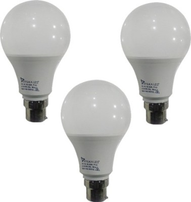 9 W Plastic B-22 LED Bulbs (Cool Day Light, Pack of 3)
