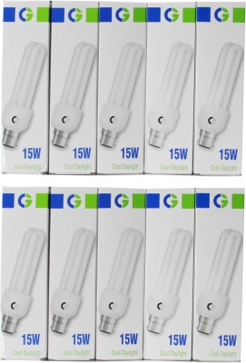 Greaves 15 W 2U CFL Bulb (Cool Daylight, Pack of 10)
