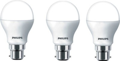 7W White LED Bulb (Pack of 3)