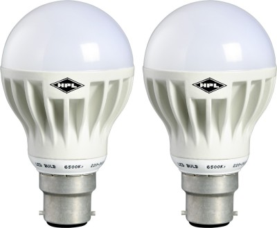 7W White PVC LED Bulbs (Pack Of 2)