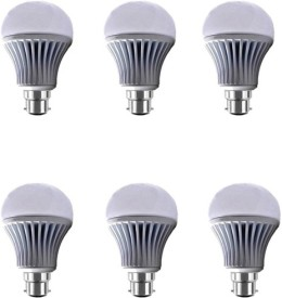 7W B22 LED Bulb (Pack of 6)