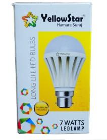 7W B22 LED Bulb (White, Set of 2)