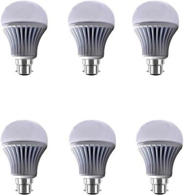 Yellowstar 12W B22 LED Bulb (White, Set of 6)