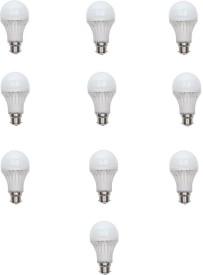 9 W LED Bulb (White, Pack of 10)