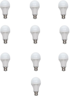 9 W LED Bulb (White, Pack of 10)