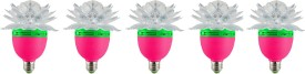 Lotus-3W-LED-Bulb-(Multicolor,-Pack-of-5)